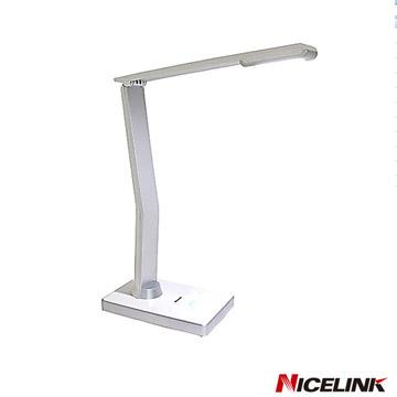 NICELINK 耐司林克觸控式可調光LED檯燈-銀白-TL-206E4(W)