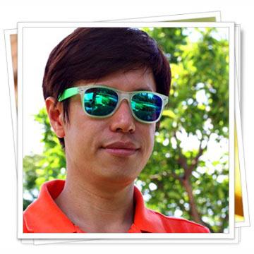 【Hawk eyes太陽眼鏡】韓風螢光深綠-大明星版