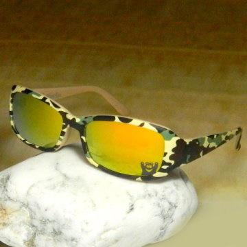 【Hawk eyes】一級光學抗UV400太陽眼鏡-時尚迷彩黑熊