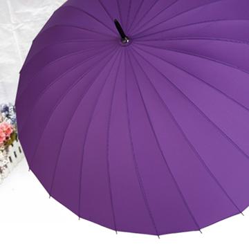 【SC life】24支傘骨耐用手開直傘(晴雨傘)2入-紫色
