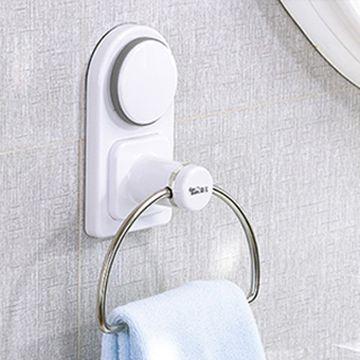【三合一】高質感吸盤塗膠毛巾置物架