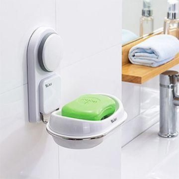 【三合一】高質感吸盤塗膠肥皂盒置物架