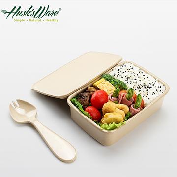 美國Husk's ware稻殼天然無毒環保便當盒-大
