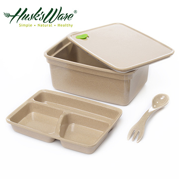【美國Husk's ware】第二代稻殼天然無毒環保雙層便當盒