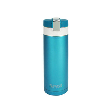 日本PEARL LIFE彈蓋保溫杯450ml(藍)/附保護套