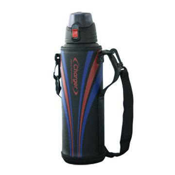 [日本PEARL]運動彈蓋1500ml保冷保溫瓶(附高質感保護提袋)-紅