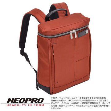 【NEOPRO】日本機能包 電腦雙肩後背包 B4尼龍PILLAR【2-163】橘色