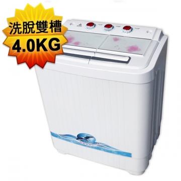 ZANWA晶華 4.0KG節能雙槽洗衣機ZW-40S-A7白