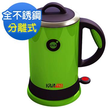 KRIA可利亞 全開口式不銹鋼炫彩快煮壺/電水壺KR-389綠