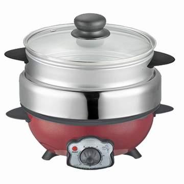 KRIA可利亞 蒸煮烤三用料理鍋/調理鍋/電火鍋KR-816