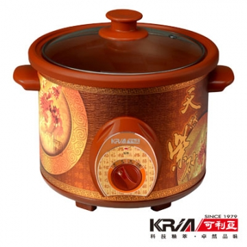 KRIA可利亞 4L紫砂養生燉鍋/調理鍋/電燉鍋/電火鍋KR-40D