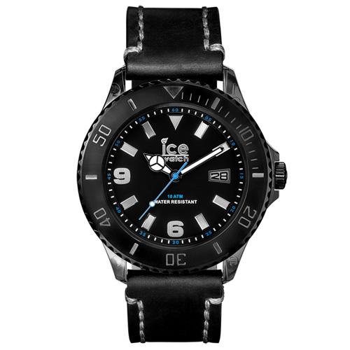 ICE Watch VINTAGE系列 仿舊造型皮革運動風腕錶-黑48mm
