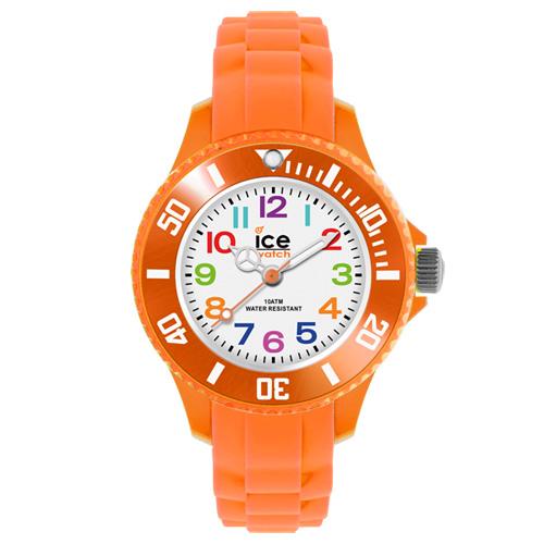 ICE Watch MINI系列 迷你繽紛矽膠腕錶(白/橘)28mm