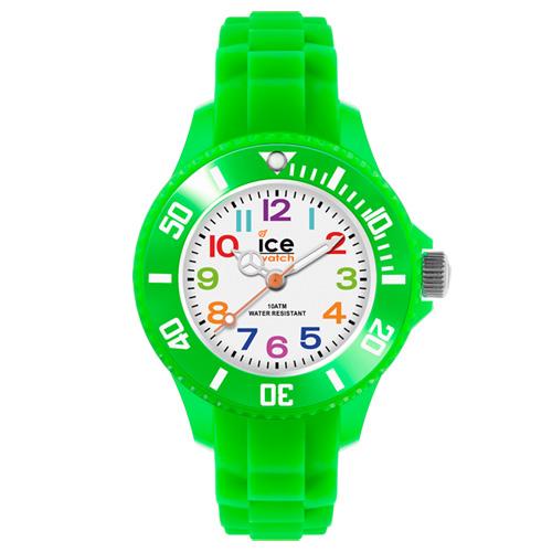 ICE Watch MINI系列 迷你繽紛矽膠腕錶(白/綠)28mm