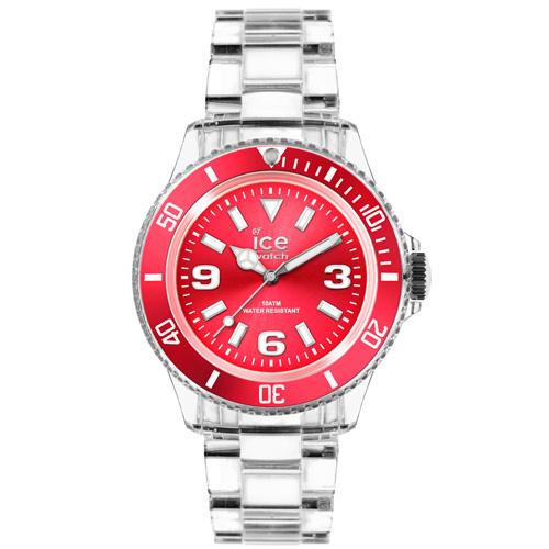 ICE Watch PURE系列 純淨透明腕錶(寶紅)38mm