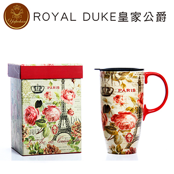 《Royal Duke》陶瓷馬克杯 專屬外盒款550ml- 巴黎玫瑰