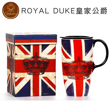《Royal Duke》陶瓷馬克杯 專屬外盒款550ml- 英國國旗