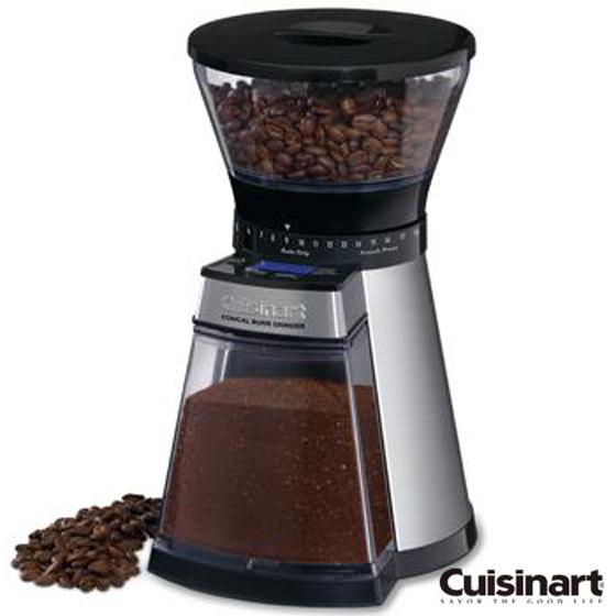 【美膳雅Cuisinart】數位圓錐咖啡研磨器 CBM-18NTW