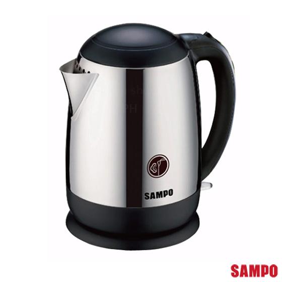 【聲寶SAMPO】1.5L全不鏽鋼廣口易潔快煮壺 KP-PC15C