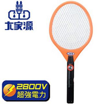 大家源 三層充電式LED照明電蚊拍-2入組(橘)TCY-6103
