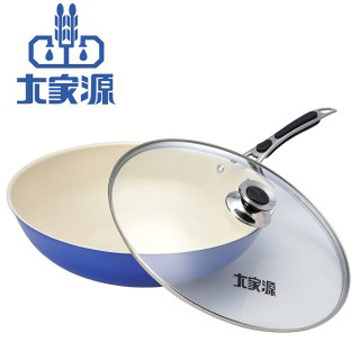 大家源 36cm健康陶瓷炒鍋TCY-9336