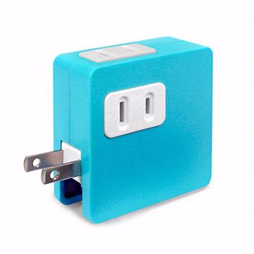 ULI 炫彩2A雙USB充電插座-藍色