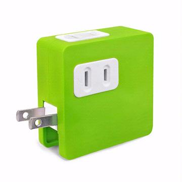 ULI 炫彩2A雙USB充電插座-綠色