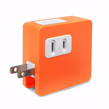 ULI 炫彩2A雙USB充電插座-橘色