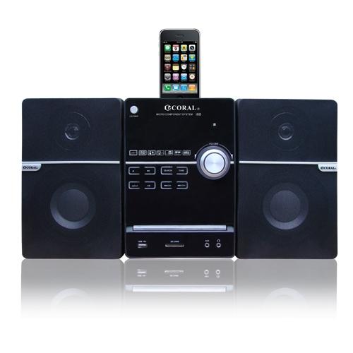 CORAL iPhone /iPod / DVD床頭音響組 i68