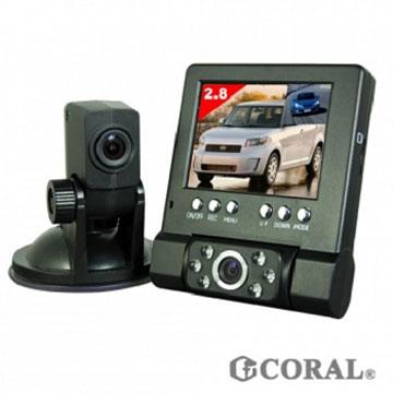 CORAL分離式雙鏡頭行車紀錄器 DVR-211