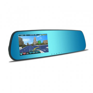 ODEL後視鏡型GPS導航行車記錄器+8G記憶卡