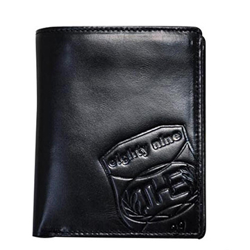 THE89 經典真皮短皮夾 -爵士國度921-6203-09黑色