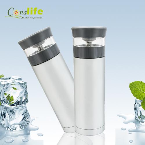 Conalife-真空雙層304不銹鋼保溫泡茶杯-白