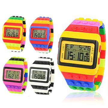 Conalife 韓國熱銷積木造型中性款錶-1入(顏色隨機)