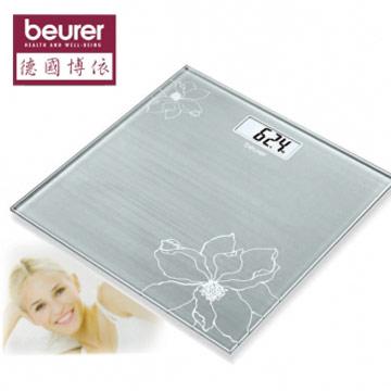 德國博依beurer-典雅花卉玻璃體重計GS10