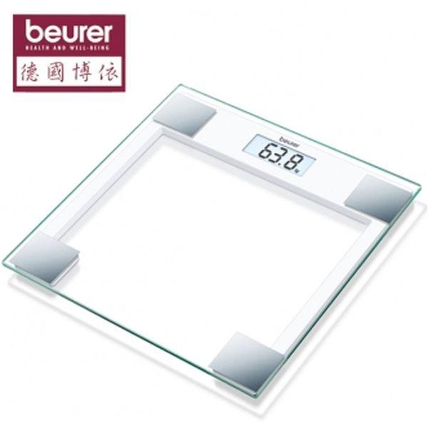 德國博依beurer-典雅方形玻璃體重計 GS14