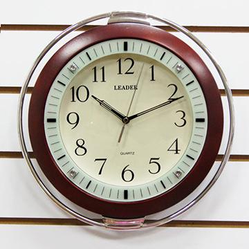 【 ORIENT東方】LEADER系列 LW-002 簡約木框靜音時尚掛鐘