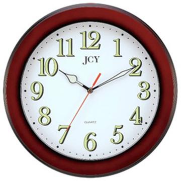 JCY W-6875咖啡框靜音夜光掛鐘/時鐘/壁鐘