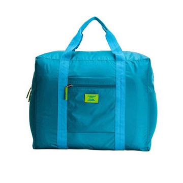 行李箱大容量可折疊拉桿包-藍