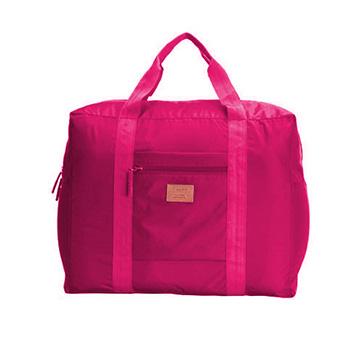 行李箱大容量可折疊拉桿包-玫