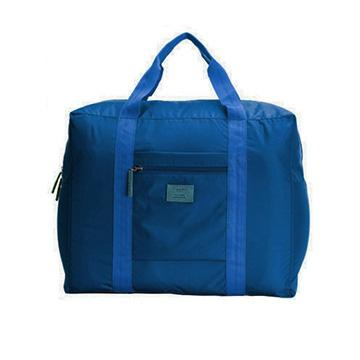 行李箱大容量可折疊拉桿包-藏青