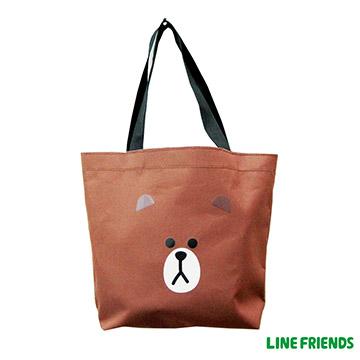 【LINE FRIENDS】造型萬用袋LI-5364咖_熊大