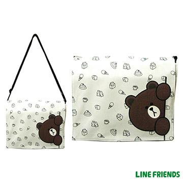 【LINE FRIENDS】平板側背包(躲貓貓熊大_米)LI-5425