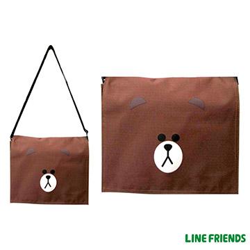 【LINE FRIENDS】平板側背包(躲貓貓熊大_咖)LI-5425