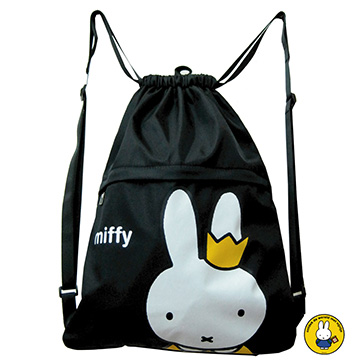 【Miffy米飛】束口後背袋-Crown皇冠款MI-5616