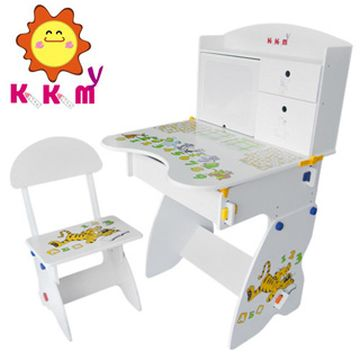 【kikimmy】日風成長書桌學習書桌椅組/可升降