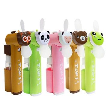 iBRIDGE 可愛動物風扇 噴水隨身風扇-熊貓
