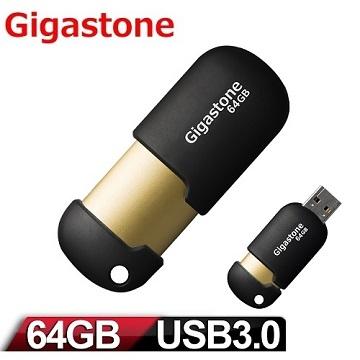 Gigastone  U307 64GB USB3.0 膠囊隨身碟(黑/金)