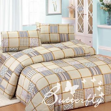 BUTTERFLY【貴族經典】雙人四件式涼被床包組-黃色