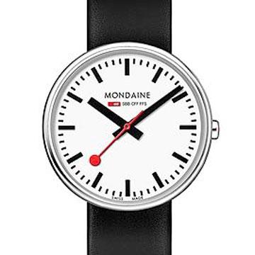 MONDAINE瑞士國鐵MINI GIANT小巨人腕錶/35mm-黑錶帶